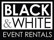 Black and White Party Rentals Logo